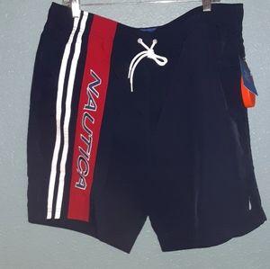 Mens xlarge nautica swim shorts vintage blue new